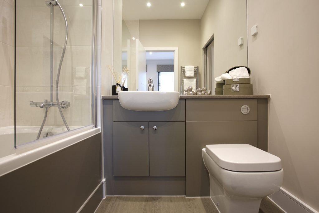 Bathroom at The Exchange, Langham Homes development in New Malden
