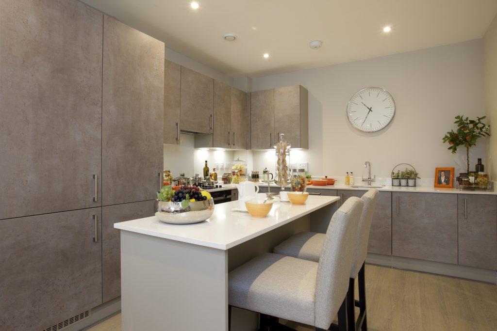Kitchen diner at The Exchange, Langham Homes, New Malden development